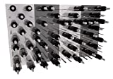 STACT Wall Mounted Wine Rack 3x4 Combo Kit 10: Gunmetal Grey & Pure White