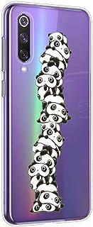 Oihxse Cristal Compatible con Xiaomi Mi Mix 2s Funda Ultra-Delgado Silicona TPU Suave Protector Estuche Creativa Patrón Panda Protector Anti-Choque Carcasa Cover(Panda A8)