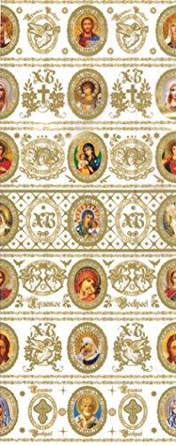 ukrainisches-kunsthandwerk Ostereier Folie. Schrumpffolie. Heilige Weiß/Gold Nr. 42 reicht für 7 Eier. Für Kunststoff, Styropor oder Gekochte Eier geeignet.