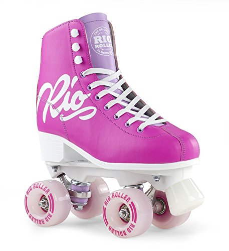 Rio Roller Script Roller/Quad Skates Pink/Lila, Pink / Lilac