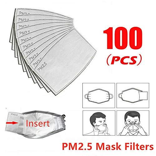 GUNGUN paquetes de filtro de carbón activado PM2.5 5 capas filtro protector tamaño adulto para deportes al aire libre,  resistencia PM2.5 ciclismo camping máscara anti contaminación Mask