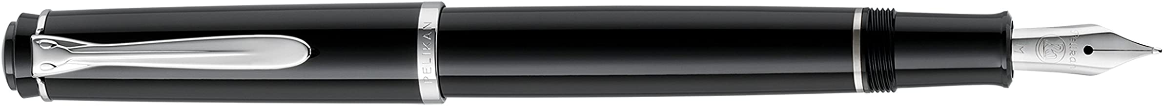 Pelikan, M1000 Souveran Fountain Pen, Green w/Black Cap & Gold Plated Trim