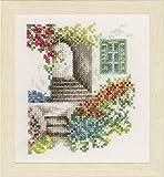 Unbekannt Lanarte–Paquete Romántico callejuela Contador plástico Cruz, algodón, Multicolor, 11x 12x 0.3cm