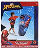 Spiderman Spider-Man Inflatable Bop Bag & Bop Gloves Set Kids Punching Bag with Gloves, Freestanding Superhero Blow Up Bouncing Boxing Bag for Exercise, Durable Heavy Duty Indoor and Outdoor - 34.5'