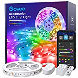 LED Strip Lights RGBIC, Govee 16.4FT Bluetooth Color Changing Rainbow LED Lights, APP Control with Segmented Control Smart Color Picking, Multicolor LED Music Lights for Bedroom, Room, Kitchen, Party