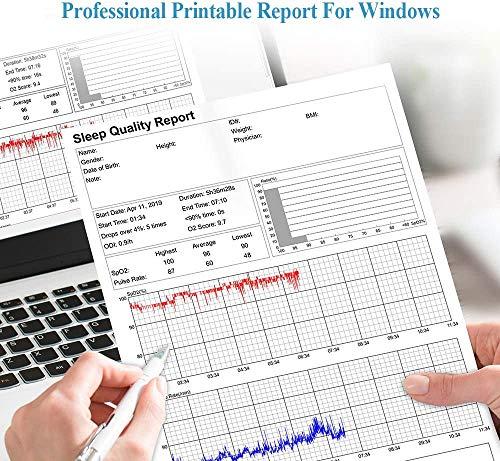 ViATOM Misuratore di Saturazione di Ossigeno Bluetooth, Saturazione di Ossigeno Professionale da Dito, per il monitoraggio del sonno a basso livello di SpO2 e HR alto/basso con applicazione PC