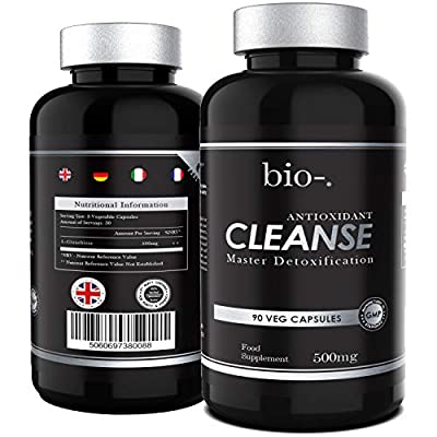 Bio-Cleanse L-Glutathione 500mg – 90 Capsules – The Master Antioxidant For Detoxification – Immune System And Liver Support - Liver Cleanse Nutrient Metabolism – Vegan, Gluten Free – Made In UK