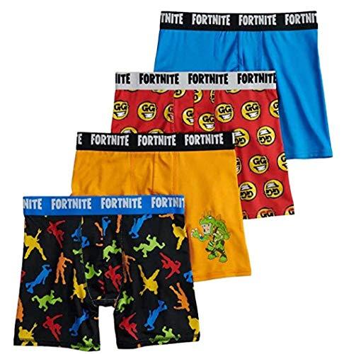 Fortnite Boys 4-Pack Boxer Briefs Underwear (10)