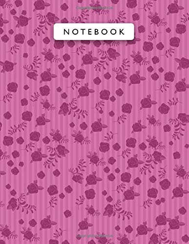 Notebook Barbie Pink Color Mini Vintage Rose Flowers Small Lines Patterns Cover...