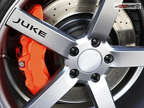 2 x Nissan Juke Logo für Reifen Milchglas Frost Frostfolie Effekt Frost Milch Gravur Aufkleber aus Hochleistungsfolie für alle glatten Flächen von myrockshirt®