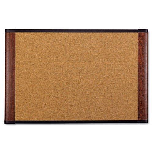 Cork Bulletin Board, 72 x 48, Mahogany Frame, Sold as 1 Each