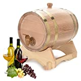 Victool Vintage Wood Oak Barrel, Timber Wine Barrel para Cerveza Whisky Rum Port 5L