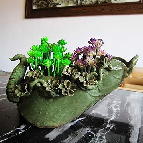 ISAAC ENGLAND Variable Glaze Peacock Rose Traditionelle Chinesische Art Blumenhalter Antike Keramik Blumenvase Hydroponische Blumenapparatur