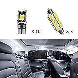 Cobear para X4 Super Brillante Fuente de luz LED Interior Lámpara de Coche Bombillas de Repuesto Blanco Paquete de 19