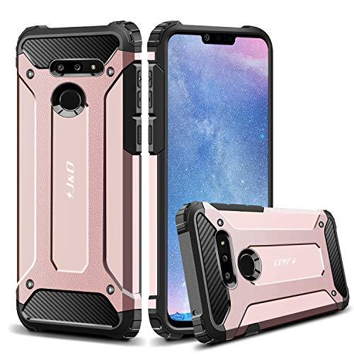 J&D Compatible para LG G8 ThinQ/LG G8 Funda, [Armadura Delgada] [Doble Capa] [Protección Pesada] Híbrida Resistente Funda Protectora y Robusta para LG G8 ThinQ, LG G8 - [No para LG G8S ThinQ]