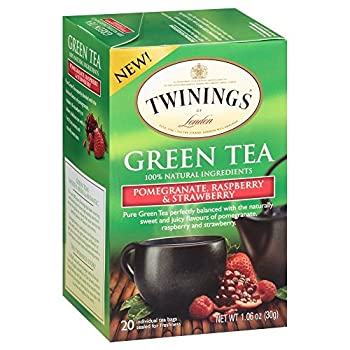 Twinings Green Pomegranate Raspberry and Strawberry Bagged Tea 2 Pack.