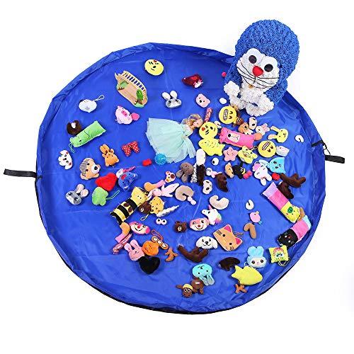 Gobesty Bolsa de Almacenamiento de Juguetes para niños, Gran Capacidad, Bolsa ordenada de Juguetes, Bolsa de Alfombra de Almacenamiento, Bolsa de Juguete, Limpieza de Juguetes con cordón, 150 cm