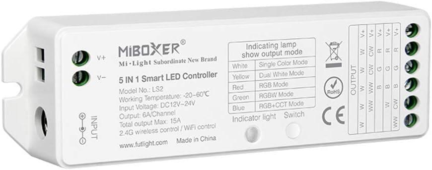 LGIDTECH LS2 Miboxer LED Strip Lights Cont 2.4GHz 5 in 1 Max online shop 81% OFF Wirelss