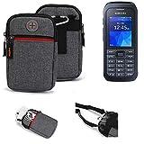 K-S-Trade® Gürtel-Tasche Für Samsung Xcover 550 Handy-Tasche Schutz-hülle Grau Zusatzfächer 1x