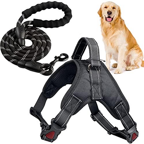 Xnuoyo ArnéS De Pecho para Mascotas Correa De Perro Arnés de Perro Transpirable Ajustable con Correa Adecuado para Perros Pequeños, Medianos y Grandes. (XXL)