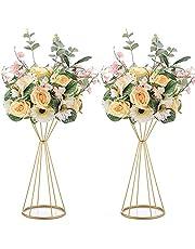 Nuptio Metallblomma trumpet 50 cm höjd vas bröllop mittstycke vas bordsdekoration för bröllopsdag ceremoni fest födelsedag evenemang gång heminredning