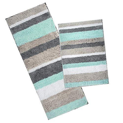 tappeto bagno nordico Pauwer Microfibra Bagno tappetini Antiscivolo Lavabile Tappeto Bagno