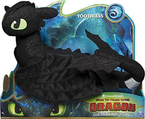 Dragons 6045088 - Movie Line - Deluxe - Plüschfiguren, riesige Plüschfigur, Drachenzähmen leicht gemacht 3, Die geheime Welt