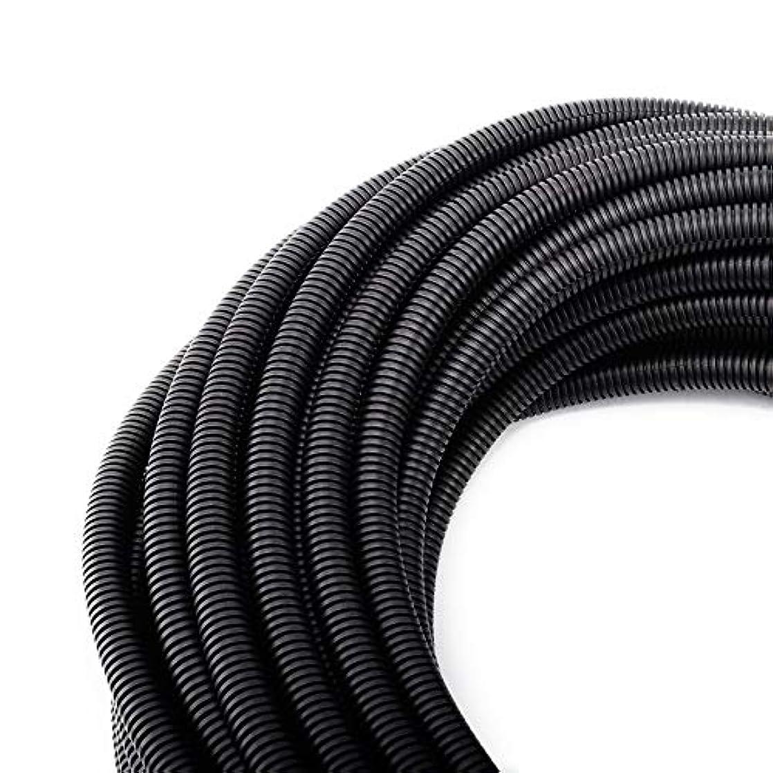"50 FT 3/8"" Wire Loom Split Tubing Auto Wire Conduit Flexible Cover lcpeuffh45657"