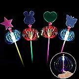 Herefun LED-Leucht Spielzeug, 4 Stück LED Spielwaren Glänzende Spielzeug Partyartikel LED, Leuchtende Blume Spielzeuge Gastgeschenke Kindergeburtstag Halloween Karneval Partyartikel Zubehör (Glow)