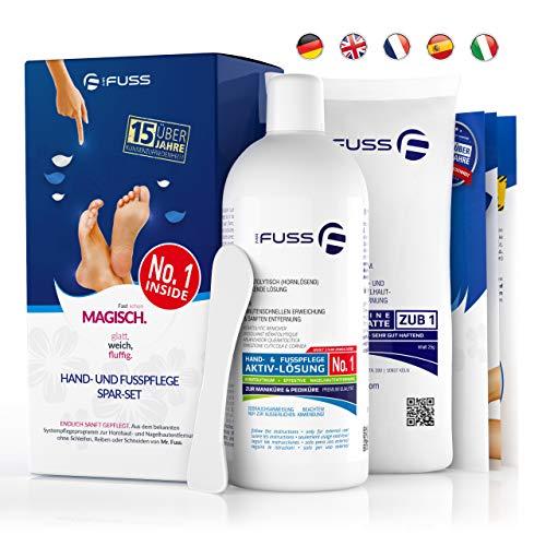 Hornhautentferner Nagelhautentferner Lösung Plus Pack - Mr. Fuss® No. 1-500ml - Stark Erweichend - Anti-Hornhaut, Anti-Zuwachs System
