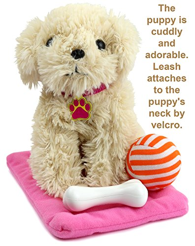 Click n' Play 9 piece Doll Puppy Set and Accessories. Perfect For 18 inch American Girl Dolls New York