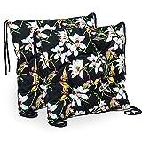 Cuscino per sedia, 40 x 40 cm, per interni ed esterni (motivo floreale, 40 x 40 cm - 2 pezzi)