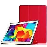 FINTIE Funda para Samsung Galaxy Tab S 10.5 - Súper Delgada y Ligera Carcasa con Función de Soporte y Auto-Reposo/Activación para Modelo SM-T800/T805, Rojo