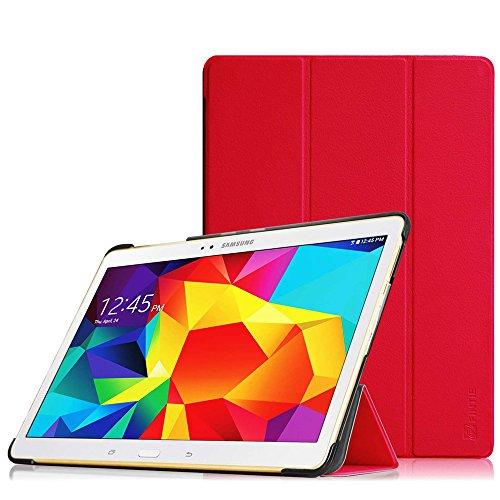 FINTIE Custodia per Samsung Galaxy Tab S 10.5 - Ultra Sottile di Peso Leggero Tri-Fold Case Cover con Funzione Sleep/Wake per Samsung Galaxy Tab S 10.5 Pollice T800 T805, Rosso
