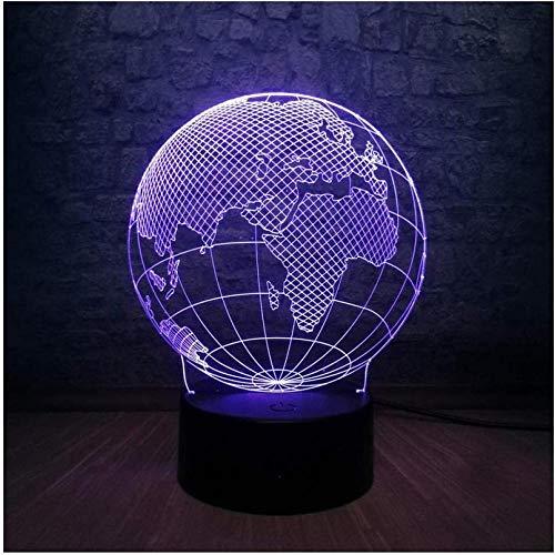 Nachtlicht für Kinder Neuheit Design World Europe Map 3D-LED-Lampe 7 Farben Ändern der Stimmung Glühbirne Kid Desk Dekoration Gadget Geschenk Spielzeug
