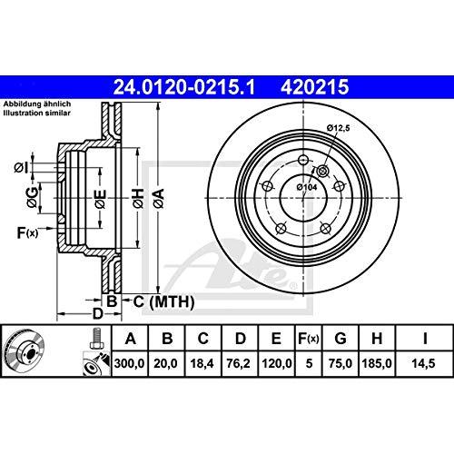 Anzahl 2 Brembo 09.A047.21 Vordere Bremsscheibe mit UV Lackierung