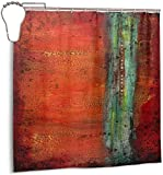 N/A Kupfer-Duschvorhang, wasserdicht, Polyester, schimmelresistent, 12 Stück, 180 x 180 cm