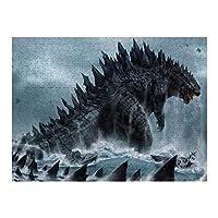 Godzilla ゴジラ 500ピース ジグソーパズル 木製 アート コレクション ミニパズル 減圧玩具 プレゼント 籤引き 室内遊び 520*380 mm