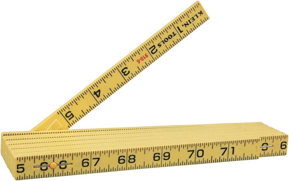 Klein Tools 910-6 Durable Fiberglass 6-Foot Folding Ruler