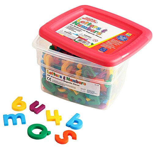 Educational Insights Multicolored Uppercase & Lowercase AlphaMagnets and MathMagnets, Set of 214 Uppercase & Lowercase Letters, Numbers, Punctuation & Math Symbols: Perfect for Homeschool & Classroom, Ages 3+
