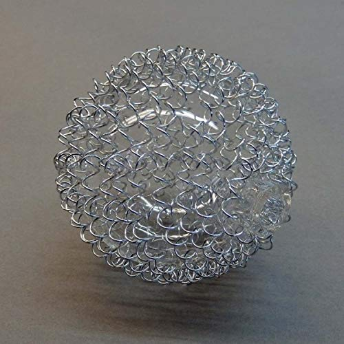 Lampenglas 6345 Ersatzschirm Schirm Glas Lampenschirm Ersatzglas für Pendelleuchte Drahtkugel Kugelglas
