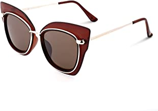 VIVIENFANG Women Elegant High Point Cateye Sunglasses Color Mirrored Butterfly Shades GP2195
