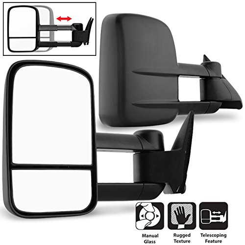 For 1988-2000 Chevy CK Series Pickup Truck Extendable Towing Manual Mirrors Both Side Replacement