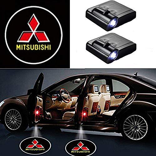 MIVISO LED Auto Projektor, 2 Stück Autotür Willkommen Schatten Licht, Universal Wireless Magnetic Sensor Shadow Logo Lampe