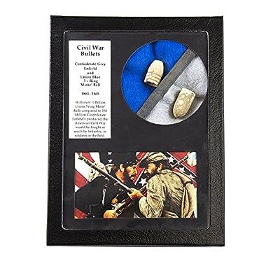 Beverly Oaks Genuine Civil War Bullets in Riker Display Case - Union and Confederate Dug Bullets - American History Memorabilia