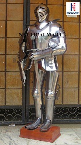 NAUTICALMART - Mono de Armadura de Caballero Medieval con Armadura de Espada
