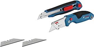 Bosch Professional - Set de corte 2 unidades navaja y cúter (4 cuchillas)