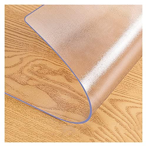 ZWJHNN Alfombra De Piso De PVC Transparente Alfombra De Protección De Piso De Madera Dura Alfombra De Protección De Sala De Estar (Color : Matte 1.5mm, Size : 100x150cm)