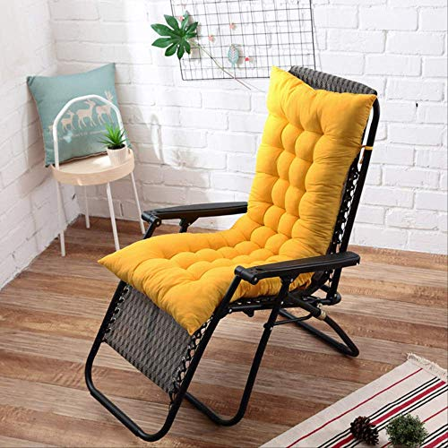 NoNo Lang kussen ligstoelen inklapbare schommelstoel kussen tuinstoel kussen raam vloermat 40x110cm donkergeel