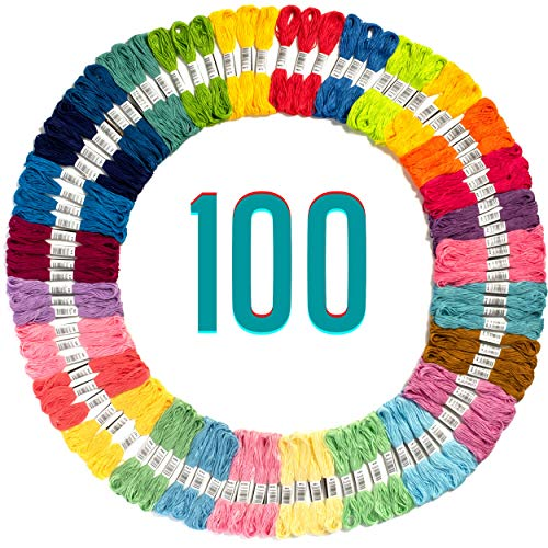 Embroidery Floss - 100 Skeins Embroidery Thread - Friendship Bracelets String -...